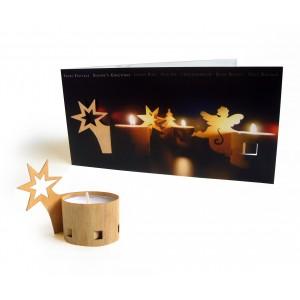 Weihnachtskarte mit Einleger