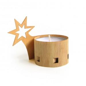 Teelichtbanderole|Stern|Fur...