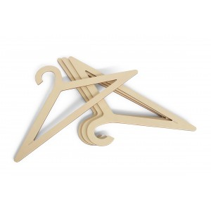 Design Kleiderbügel aus Holz